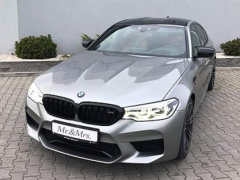 Szare Bmw M5 Competition 2019 4.4 L 625km